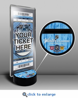 2016 NHL Winter Classic Hockey Puck Ticket Display Stand - Canadiens vs Bruins