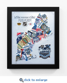 2016 NHL Winter Classic State of Mind Framed Print (New England) - Canadiens vs Bruins