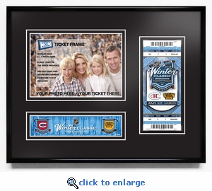 2016 NHL Winter Classic Your 5x7 Photo Ticket Frame - Canadiens vs Bruins