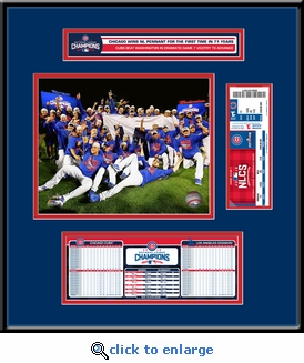 2016 NLCS Champions Ticket Frame Jr - Chicago Cubs