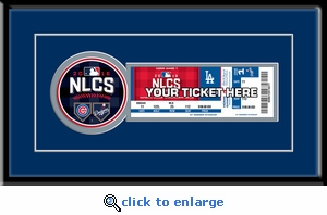 2016 NLCS Single Ticket Frame - Los Angeles Dodgers