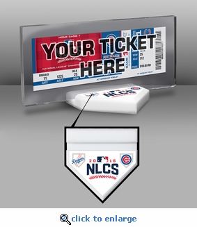 2016 NLCS Ticket Display Stand - Dodgers vs Cubs