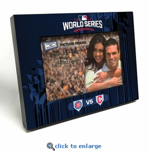2016 World Series 4x6 Black Wood Edge Picture Frame - Cubs vs Indians