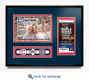 2016 World Series 5x7 Photo Ticket Frame - Cleveland Indians