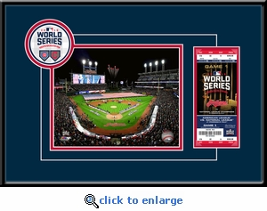2016 World Series 8x10 Photo Ticket Frame - Cleveland Indians