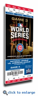 2016 World Series Canvas Mega Ticket - Chicago Cubs