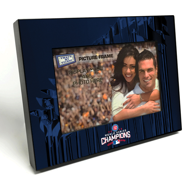 2016 World Series Champions 4x6 Black Wood Edge Picture Frame ...