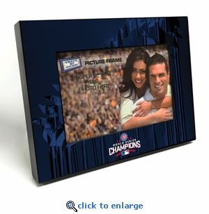 2016 World Series Champions 4x6 Black Wood Edge Picture Frame - Chicago Cubs