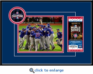 2016 World Series Champions 8x10 Photo Ticket Frame - Chicago Cubs