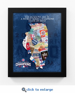 2016 World Series Champions Personalized State of Mind Framed Print - Chicago Cubs