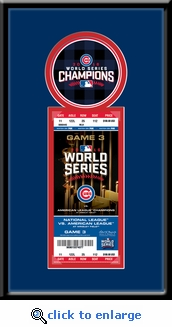 2016 World Series Champions Single Ticket Frame - Chicago Cubs