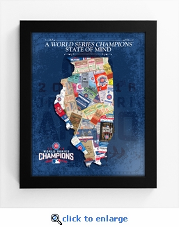 2016 World Series Champions State of Mind Framed Print - Chicago Cubs
