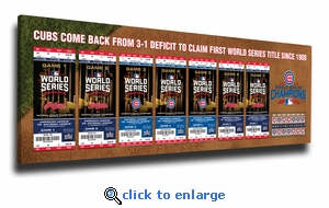 2016 World Series Champions Tickets to History Canvas Print - Chicago Cubs