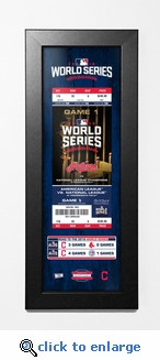 2016 World Series Framed Ticket Print - Cleveland Indians