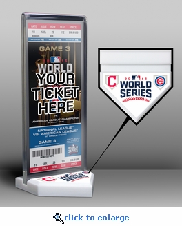 2016 World Series Ticket Display Stand - Cubs vs Indians