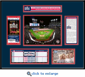 2016 World Series Ticket Frame - Cleveland Indians
