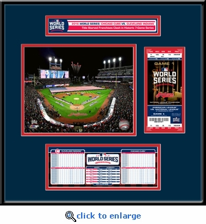 2016 World Series Ticket Frame Jr - Cleveland Indians