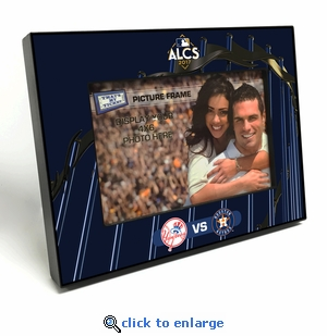 2017 ALCS 4x6 Black Wood Edge Picture Frame - Yankees vs Astros