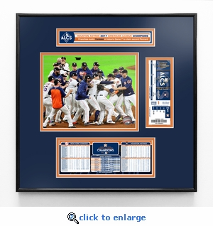 2017 ALCS Champions Ticket Frame Jr - Houston Astros