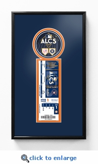 2017 ALCS Single Ticket Frame - Houston Astros