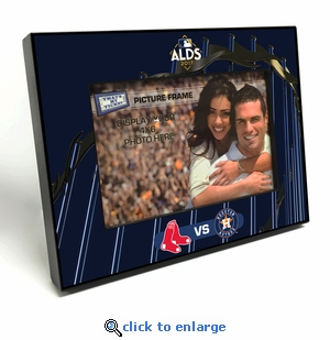 2017 ALDS 4x6 Black Wood Edge Picture Frame - Red Sox vs Astros