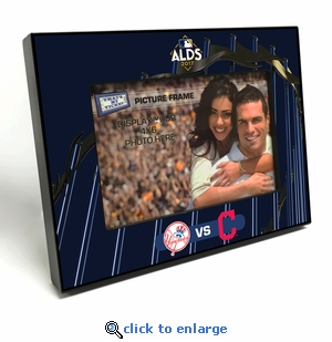 2017 ALDS 4x6 Black Wood Edge Picture Frame - Yankees vs Indians