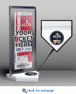 2017 ALDS Ticket Display Stand - Red Sox vs Astros