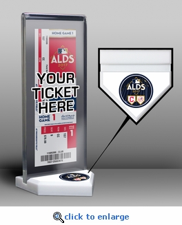 2017 ALDS Ticket Display Stand - Yankees vs Indians
