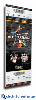 2017 MLB All-Star Game Canvas Mega Ticket - Miami Marlins