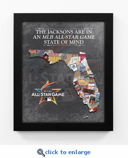 2017 MLB All-Star Game Personalized State of Mind Framed Print - Miami Marlins
