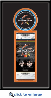 2017 MLB All-Star Game Single Ticket Frame - Miami Marlins