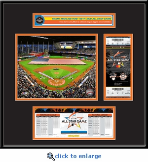 2017 MLB All-Star Game Ticket Frame Jr - Miami Marlins