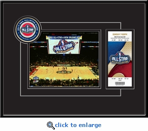 2017 NBA All-Star Game 8x10 Photo Ticket Frame - New Orleans