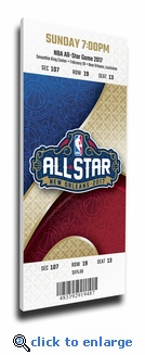 2017 NBA All-Star Game Canvas Mega Ticket - New Orleans