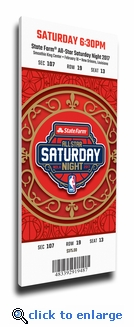 2017 NBA All-Star Game Slam Dunk Canvas Mega Ticket - New Orleans