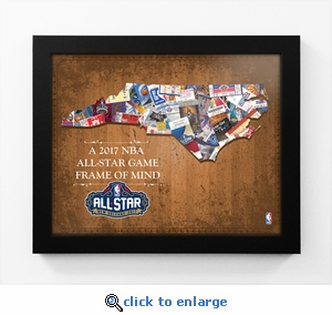 2017 NBA All-Star Game State of Mind Framed Print - Louisiana