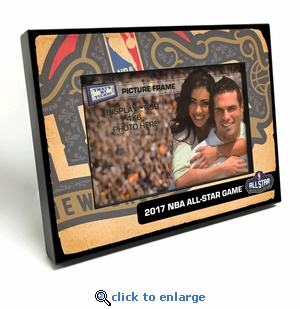 2017 NBA All-Star Game Black Wood Edge 4x6 inch Picture Frame - New Orleans