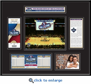 2017 NBA All-Star Game Ticket Frame - New Orleans