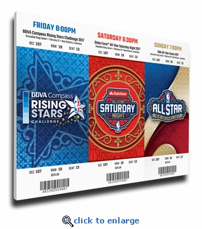 2017 NBA All-Star Weekend Mega Ticket Strip - New Orleans