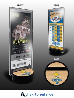 2017 NBA Finals Champions Commemorative Ticket Stand - Golden State Warriors