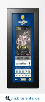 2017 NBA Finals Champions Framed Ticket Print - Golden State Warriors