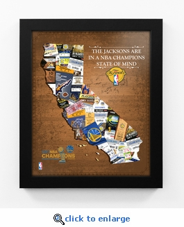 2017 NBA Finals Champions Personalized State of Mind Framed Print - Golden State Warriors