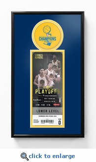 2017 NBA Finals Champions Single Ticket Frame - Golden State Warriors