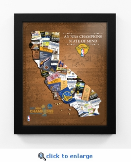 2017 NBA Finals Champions State of Mind Framed Print - Golden State Warriors