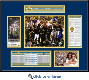 2017 NBA Finals Champions Ticket Frame�- Golden State Warriors