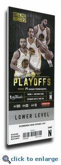 2017 NBA Finals Game 2 Canvas Mega Ticket - Golden State Warriors