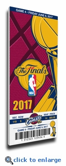 2017 NBA Finals Game 4 Canvas Mega Ticket - Cleveland Cavaliers