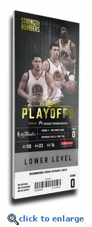 2017 NBA Finals Game 5 Canvas Mega Ticket - Golden State Warriors