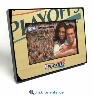 2017 NBA Playoffs 4x6 inch Black Wood Edge Picture Frame
