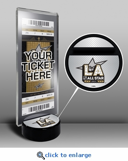 2017 NHL All-Star Game Hockey Puck Ticket Display Stand - Los Angeles Kings